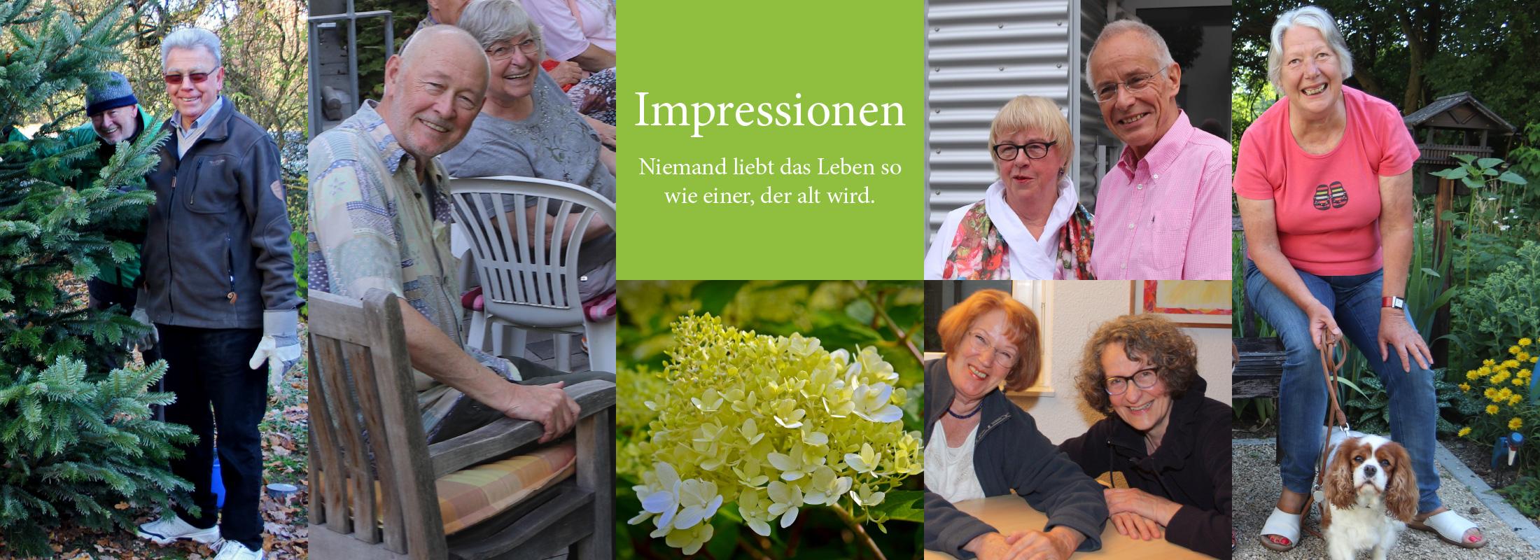 Impressionen – Niemand liebt das Leben so wie einer, der alt wird.