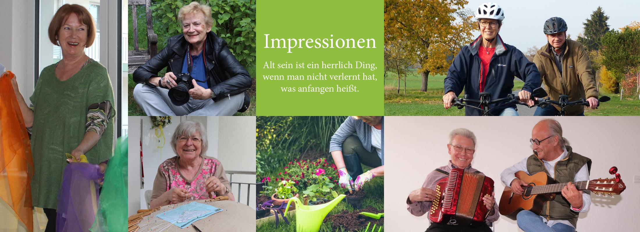 Impressionen – Alt sein ist ein herrlich Ding, wenn man nicht verlernt hat, was anfangen heißt.